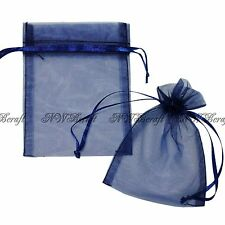 "50 Strong Sheer Organza Pouch 7x9cm 3x3.5"" Wedding Favor Gift Candy Jewelry Bags"