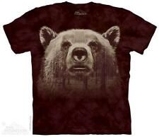 BEAR FACE FOREST ADULT T-SHIRT THE MOUNTAIN