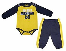 Michigan Wolverines Long Sleeve Creeper & Pants- Top 0-3 month, Pants 3-6 months