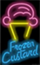 Frozen Custard Ice Cream Cone Genuine Neon Sign JANTEC USA  Fast Free Shipping