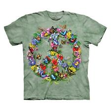 BUTTERFLY DRAGONFLY PEACE ADULT T-SHIRT THE MOUNTAIN