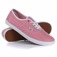 WOMENS VANS AUTHENTIC LO PRO WOVEN STRIPE SKATE LACE CASUAL SHOES TRAINERS SIZE