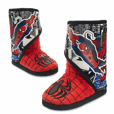 Disney Store Marvel Spiderman Slippers Boy Size 11/12