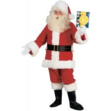 Santa Costume Adult Deluxe Plush Santa Claus Suit Christmas Fancy Dress