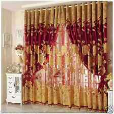 Curtains Drapes Valance Luxury Lined Curtain Set and Valance Window double layer
