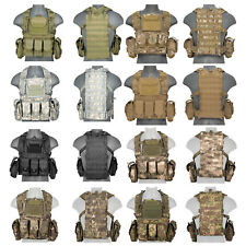 Lancer Tactical CA-307 Modular Chest Rig PALS MOLLE Vest and Hydration Pack Slot