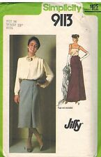 9113 Vintage Simplicity Sewing Pattern Misses Jiffy Front Wrap Skirt 2 Lengths
