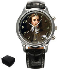 OLIVER CROMWELL  GENTS MENS WRIST WATCH  GIFT ENGRAVING