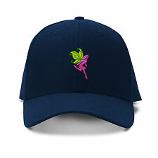 Pink Fairy Embroidery Embroidered Adjustable Hat Baseball Cap