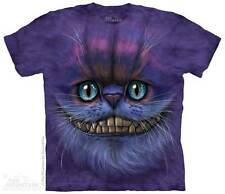 BIG FACE CHESHIRE CAT ADULT T-SHIRT THE MOUNTAIN