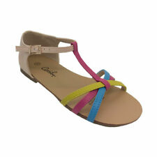 Girls Shoes Grosby Sidney Multi Coloured Sandal Strappy Sandals Size 11-4 New