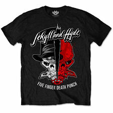 Five Finger Death Punch OFFICIAL Jekyll And Hyde FFDP Unisex T-Shirt To 2XL 13D