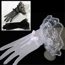 Lace Fishnet Wedding Bridal Gloves Lace Gloves Fingered Gloves For Party Wedding