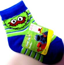 ONE PAIR SESAME STREET OSCAR KIDS SOCKS 12-24 OR 24-36 MONTHS NEW