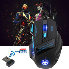 F-14 Adjustable 2400DPI Optical Wireless PRO Gaming Mouse Mice For Laptop PC LOT