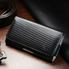 Executive Business Cell Phone Clip Pouch Holder Belt Loop Case Carbon Fiber
