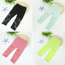 Fashion Baby Toddlers Girls Leggings Pants Lace Floral Stretch Capris Trousers