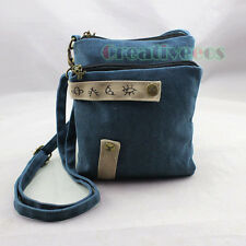 Vintage Ethnic Style Canvas Flap Satchel Shoulder Messenger Casual Double Bag