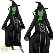 GIRLS WICKED GREEN WITCH BOOK HORRIBLE FILM CHARACTER CHILDS FANCY DRESS COSTUME
