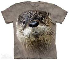 NORTH AMERICAN RIVER OTTER ADULT T-SHIRT THE MOUNTAIN SMITHSONIAN