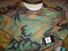 NIKE PRO COMBAT CAMO FITTED HYPERCOOL BASE LAYER DRI-FIT MAX SHIRT MEN NWT $55