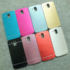 For HTC Desire 526 526G+Aluminium Metallic Brushed Hard case cover