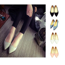 Women's Ballet Slip On Flats Loafers Single Shoes Boat Shoes Pointed Toe Fashion