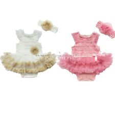 Newborn Kids Baby Girls Clothes Ruffle Floral Romper Bodysuit Jumpsuit Outfits