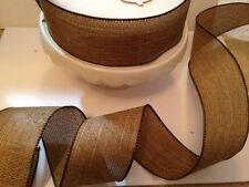 FAUX RUSTIC HESSIAN Jute Natural 38mm & 63mm weddings- Luxury Wire Edged Ribbon