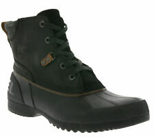 NEW SOREL Ankeny Men's Shoes Real Leather Boots Black NM2101-010 Boots SALE