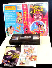 The Return of Jafar Disney Clamshell VHS 1994 Aladdin Walt Disney