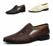 Fashion New Mens' faux leather sandals Business woven hollow out leisure shoes
