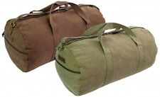HEAVY DUTY CANVAS HOLDALL roll gym duffle bag army military cotton CRIEFF