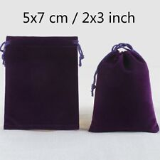 Deep Blue Velvet Drawstring Square Jewellery Packaging Pouches Gift Bags 5 x 7cm