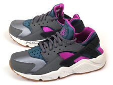 Nike Wmns Air Huarache Run Dark Grey/Teal-White 634835-016 Classic Running Shoes