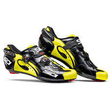 Sidi Road Shoes Wire Carbon Paint, Black/Fluorescent Yellow