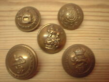 Collection of military buttons, Duke Of Wellingtons, Somerset LI, West Kent Etc