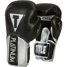 Title Boxing Platinum Pinnacle ACS Hook and Loop Training Gloves - Black/Silver