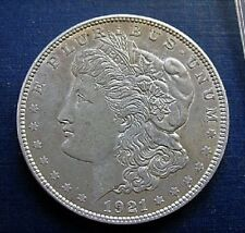 1921 P MORGAN DOLLAR VAM 27A LDS INFREQUENT REEDING DIE GOUGES OVER ST