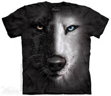 BLACK & WHITE WOLF FACE CHILD T-SHIRT THE MOUNTAIN