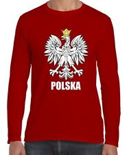 Polish Eagle Polska Flag Long Sleeve T-Shirt - Poland Football