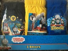 NEW 3 PACK BOYS THOMAS THE TANK ENGINE COTTON BRIEFS AGE 18-24M,2-3,3-4,4-5 YRS