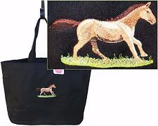 Magnificent Quarter Horse Trotting Essential Tote Bag + Name Custom Embroidered