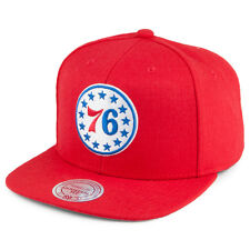 Mitchell & Ness Philadelphia 76ers Snapback Cap - Wool Solid - Red