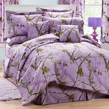REALTREE AP LAVENDER CAMO SHEETS SET- TWIN-FULL-QUEEN - PURPLE CAMOUFLAGE