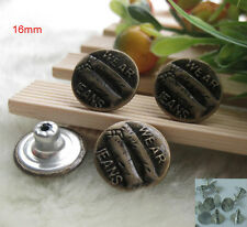 E355 LOOK INSIDE FOR FINE NO-SEW JACKET JEAN TACK BUTTONS WHOSALE FREE SHIPPING