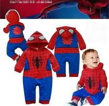 Baby Boy Spiderman Halloween Fancy Dress Party Costume Outfit Clothes Gift 6-24M