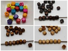 500 pcs Cube Wood Beads Wooden Beads Spacer 6X6mm Color for Choice