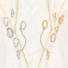 6pcs/Set Rings Urban Gold stack Crystal Cute Above Knuckle Ring Band Midi Ring