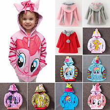 HOT Girls My little Pony Wings Hoodie Kids Clothes Jacket Cartoon Jumper Sweater